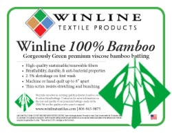 10 Yards 96X 10 Yards Winline Textiles 100/% Bamboo Batting